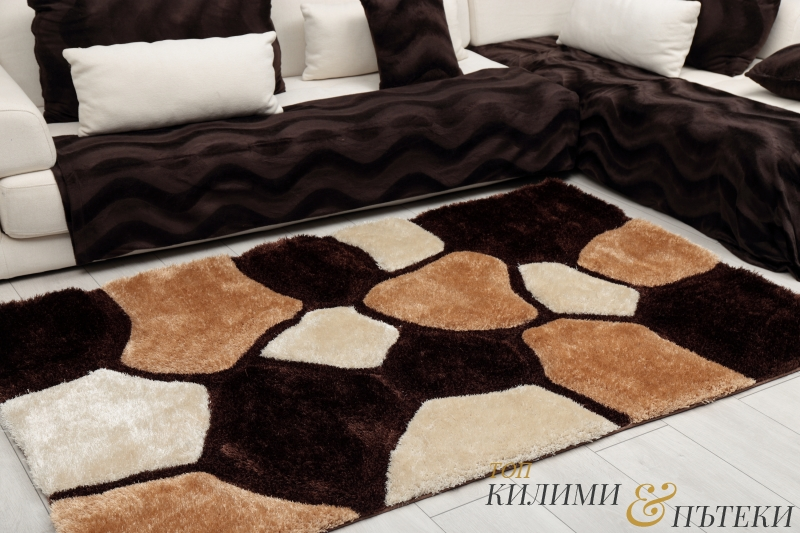 3D КИЛИМ ШАГИ - 43373 BEIGE BROWN