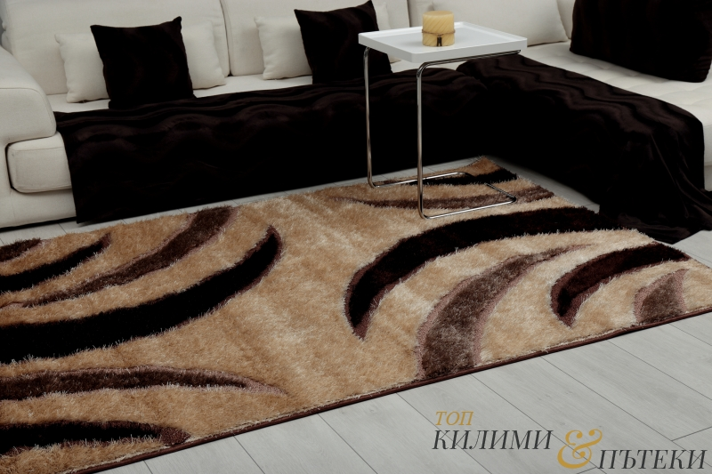 КИЛИМ ШАГИ - BEIGE D.BROWN-0882 A